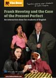Affiche du spectacle en anglais Franck Novotny and the Case of the Present Perfect, joué par the Bear Educational Theatre