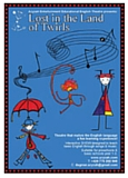 affiche du spectacle pour enfants en anglais Lost in the Land of Twirls