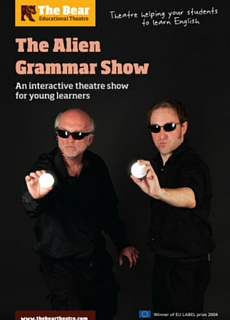 Affiche du spectacle interactif The Alien Grammar Show