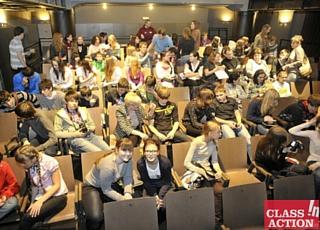 Elèves participant au concours Class in Action à Prague
