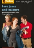 Théâtre en anglais au collège : affiche de Love, Jeans & Jealousy par The Bear Educational Theatre (production Koalako)