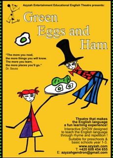 Affiche de Green Eggs and Ham, spectacle d'initiation à l'anglais
