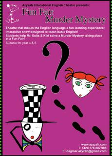 Affiche du spectacle en anglais et français Fun Fair Murder Mystery produit par Koalako
