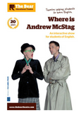 Affiche du spectacle en anglais Where is Andrew McStag ?